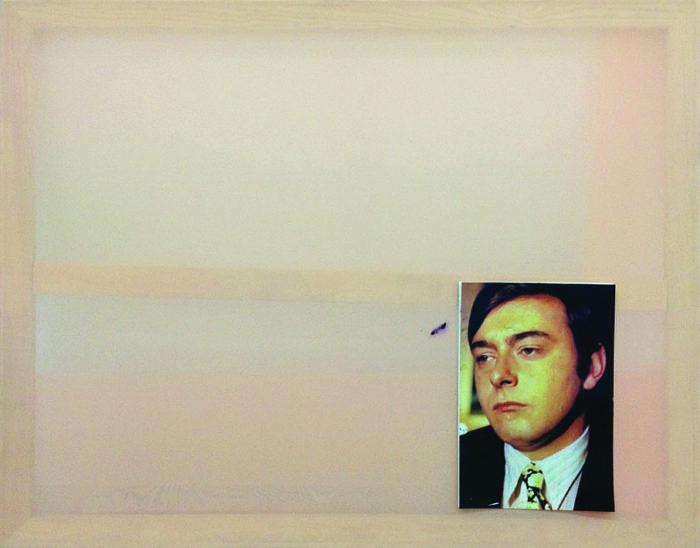 Freunde, Fotografie und Öl auf Synthetik,  76 x 93 cm,  2016
